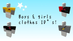 Boys Girls Clothes ID s Roblox YouTube