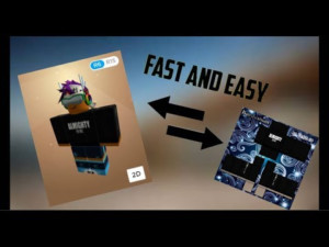 FAST AND EASY HOW TO GET A TEMPLATE OF ANY ROBLOX SHIRT
