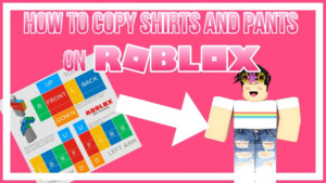 HOW TO COPY SHIRTS PANTS ON ROBLOX 2018 WORKING YouTube