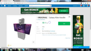 How To Get The ORIGINAL Galaxy Nike Hoodie In Roblox For