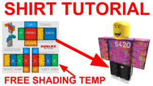 HOW TO MAKE ROBLOX CLOTHING 2019 SHADING TEMPLATE YouTube