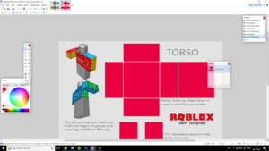 ROBLOX Making A Shirt Template YouTube