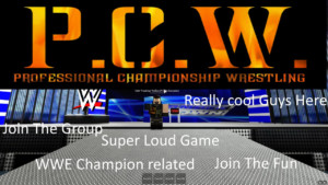 Roblox P C W Professional Championship Wrestling YouTube