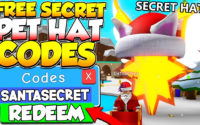All Free Secret Christmas Pet Hat Codes In Bubble Gum Simulator! Roblox